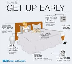 ❧ How to Get up early
