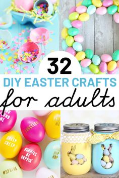 Cute easter crafts for 2019 perfect for adults and kids alike! these fun projects and diy ideas also make the perfect homemade easter gifts for adults. Easter Crafts For Seniors, Easter Gift For Adults, Crafts For Teens To Make, Easter Crafts For Kids, Toddler Crafts, Crafts To Sell, Easter Ideas, Easter Decor, Easter Centerpiece