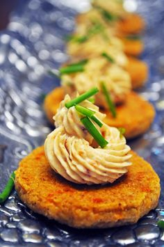 Chili Cheese Wafers with Honey-Bacon Cream Cheese and Chives | 37 Cooks