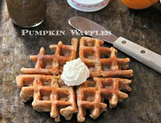 Oat Flour Pumpkin Waffles GF, DF Made these for my 3 yr old and he loved them! Easy to make too!