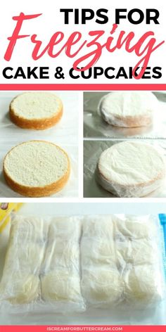 Tips for Freezing Cakes and Cupcakes I love freezing cakes and cupcakes. I actually think they taste better and are more moist when they're frozen first. Here are my best tips for how to freeze cake layers plus cupcakes before frosting them. Baking Secrets, Baking Tips, Baking Recipes, Recipes To Freeze, Baking Hacks, Baking Ideas, Frozen Cupcakes, Frozen Cake, Cake Decorating Techniques
