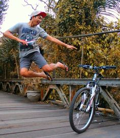 Bicycle, Levitation, Proud, Bali, Culture, Health