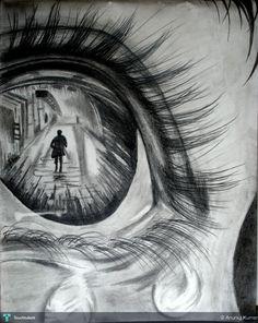 Through her eyes !! #Creative #Art #Sketching @Touchtalent.com