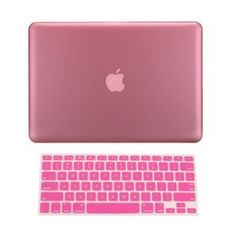 "TopCase 2 in 1 Rubberized PINK Hard Case Cover and Keyboard Cover for Macbook Pro 13-inch 13"" (A1278/with or without Thunderbolt) with TopCase Mouse Pad"