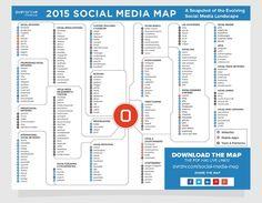 Vous avez du mal à vous repérer dans l'écosystème des médias sociaux ? Cette carte est pour vous !