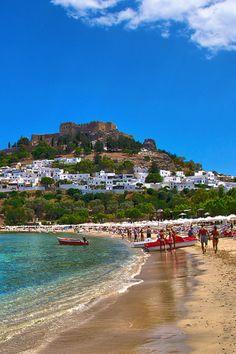 ღღ Lindos Beach Rhodes Greece