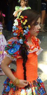 penteado infantil para festa junina