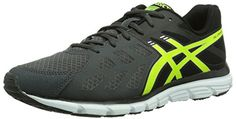Asics Gel Zaraca 3 - Zapatillas de running para hombre, color negro/ gris/ amarillo/ blanco, talla 42 - http://paracorrer.com/producto/asics-gel-zaraca-3-zapatillas-de-running-para-hombre-color-negro-gris-amarillo-blanco-talla-42/