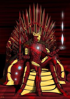 ThanksGame of Thrones - The Iron (Man) Throne cool
