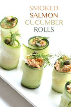 These creamysmoked salmon rolls are wrapped in cucumber for a wonderful low carb appetizer or snack. And check out a great new way to get healthy and sustainable food right to your door! One thing…