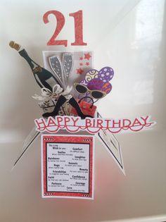 21st birthday card in a box