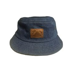 2914107a963 B.P. Denim Bucket Hat with leather patch ❤ liked on Polyvore