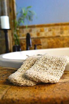 Bath / Shower Mitt (Hemp Leaf)