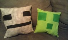 Minecraft Pillows by ChibiTsubame on Etsy, $15.00