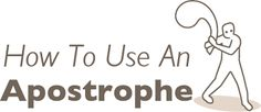 Blog post - ideas for teaching apostrophes. Includes a short video of the rules with a quiz and answers.   || Ideas and inspiration for teaching GCSE English || www.gcse-english.com ||
