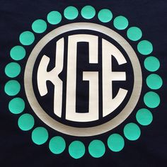 Preppy Dots Monogram Shirt by BurlapandLaceSC1 on Etsy
