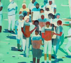 Jules de Balincourt, Untitled, 2013, Oil on panel, 18x20in (45.7x50.8cm)