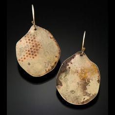 Roxy Lentz Earrings of repurposed silver plate.