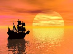 Yatching in sunset