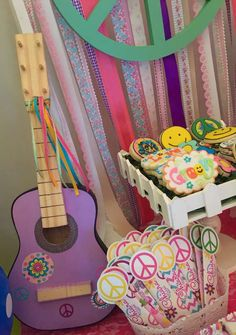 Fun hippie chic birthday party! See more party ideas at CatchMyParty.com!