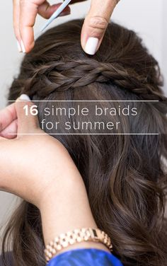 With so many different styles of braids out there, it's hard to keep track! We've rounded up tutorials (featuring our gorgeous editorial staff) some of the most popular braid styles for your summer hair inspiration. See step-by-step tutorials of dutch braids, fishtail braids, waterfall braids, cornrow braids, braided updos and so much more.