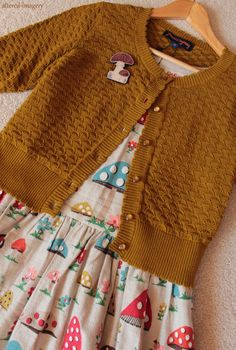 altered-imagery:  Mushrooms and my new cardigan are a match made in otome heaven.