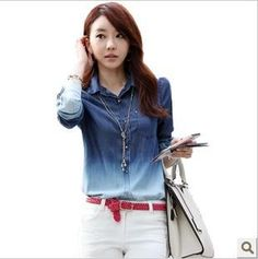 Cheap shirt flannel, Buy Quality jeans cargo directly from China shirt blouses Suppliers:blusas femininas 2014 fashionwomen blousedenim blouse elegant ladies blouses big size S-XXL&nbsp