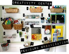 Pegboard Organization: Playful Learning's Creativity Center