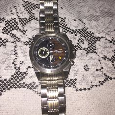 Men's Fossil adjustable watch Men's Fossil 10 ATM watch just needs battery Fossil Accessories Jewelry