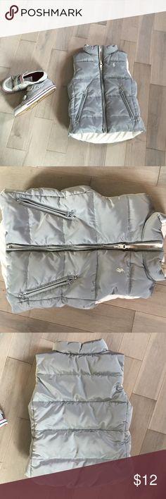 Girls vest A thicker vest with 2 zipper pockets. Gray and cream color. Good name brand Ralph Lauren Ralph Lauren Jackets & Coats Vests