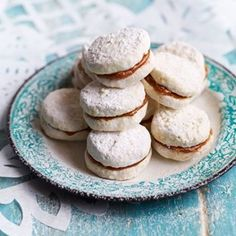 Mexican Wedding Cookies with Dulce de Leche Filling