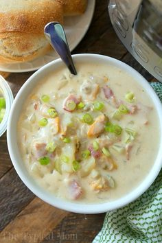 This easy Instant Pot clam chowder recipe is packed with bacon and potatoes! One of the best pressure cooker soups I've made yet and in just 10 minutes!