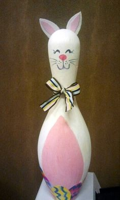 Easter Bunny Bowling Pin