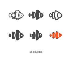 Clown Fish icon comp