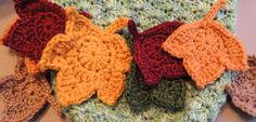leaf Crochet PATTERNs - 2 Fast and EASY Fall Maple Leaf Crochet Applique Patterns - Autumn Leaves Instant Download sale