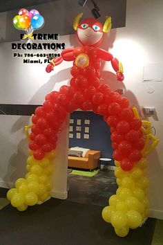 Party balloons decorations entrance Ideas for 2019 Superhero Party Decorations, Balloon Decorations Party, Superhero Birthday Party, Birthday Decorations, Party Themes, Birthday Parties, Ideas Party, Party Table Centerpieces, Balloon Centerpieces