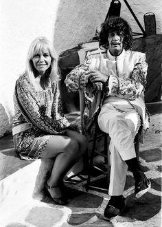 Amanda Lear con Salvador Dalí, en enero de 1969.