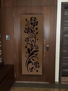 House Main Door Design, Wooden Front Door Design, Door Design Interior, Wooden Front Doors, Entrance Design, Jaali Design, Cnc Cutting Design, Modern Wooden Doors, Door Fittings