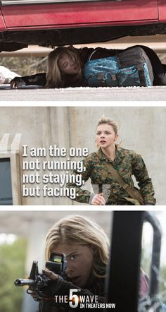 Cassie won't run. She's here to face it all in The 5th Wave. | #5thWaveMovie in theaters NOW | Tickets are available online - just click through the pin!