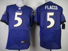 Nike Baltimore Ravens #5 Joe Flacco 2013 Purple Elite Jersey