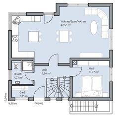 Architecture Design, Floor Plans, Design Ideas, Flooring, How To Plan, Home Decor, Modern Houses, Trendy Tree, Architecture
