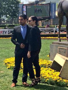 Demi Lovato and Wilmer Valderrama enjoying a day at Santa Anita Park