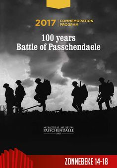 Cover of the MMP1917's brochure '100 years Battle of Passchendaele'