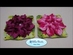 Flor de Crochê Para Aplicação em Diversos Trabalhos - YouTube _flor bico de papagaio