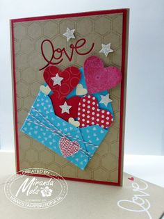 Stampin Utopia: Big A4 folded In Love / Valentines Card