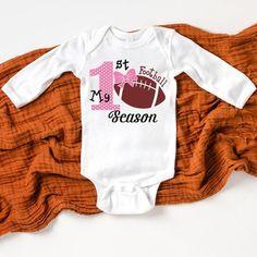 My 1st Football Season Top for Girls Onesie for First | Etsy Halloween Shirts Kids, Halloween Onesie, My First Halloween, Halloween Outfits, Kids Football Shirts, Tiger Shirt, Game Day Shirts, Making Shirts, Girls Tees