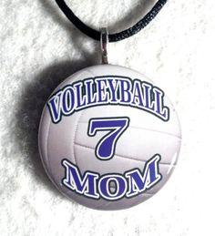 Volleyball Mom Necklace Sports Pendant Moms by sherrollsdesigns