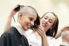 Dozens shave heads, cut locks for children's cancer research Shaved Head, Fall Hair, Hair Today, How To Raise Money, Barber, Shaving, Locks, Acting, Stylists