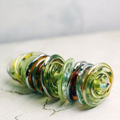 Handmade Lampwork Glass Bead Set Rustic by StoneDesignsbySheila, $35.00