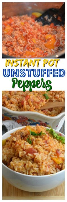 Instant Pot Unstuffed Peppers The ultimate one-pot meal that won take all day instapot recipes dinners Instant Pot Pressure Cooker, Pressure Cooker Recipes, Pressure Cooking, Pressure Pot, Best Instant Pot Recipe, Instant Recipes, Unstuffed Peppers, Crockpot Recipes, Cooking Recipes